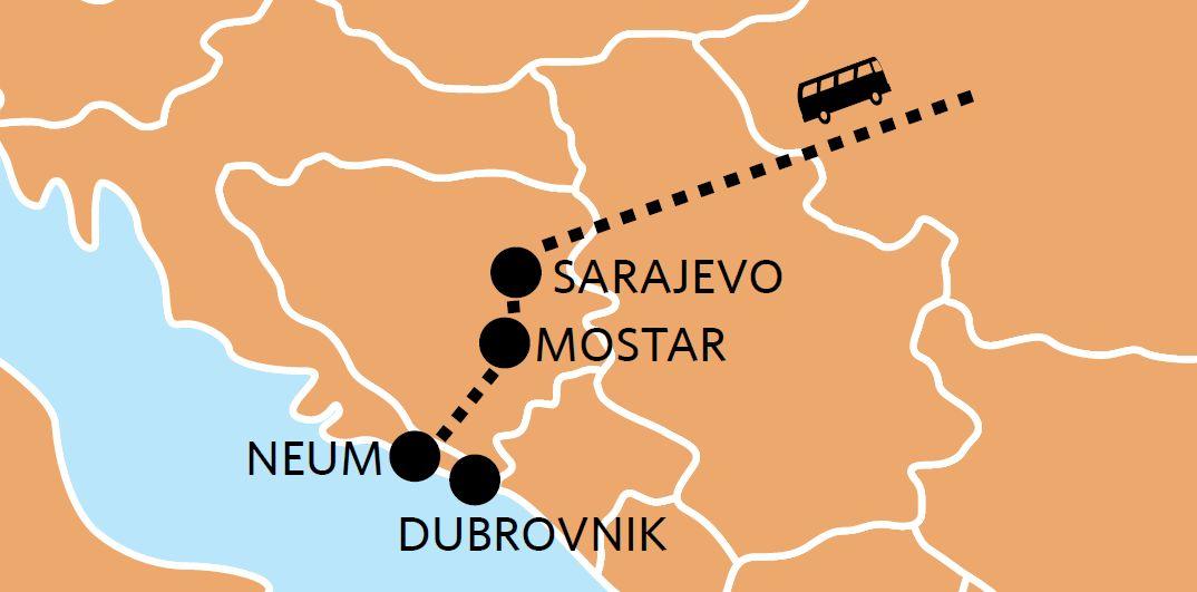 BRANJE MANDARINA U DOLINI NERETVE<br> + Sarajevo + Mostar + Neum + Dubrovnik